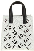 Kenzo Shopping Bag White Leather