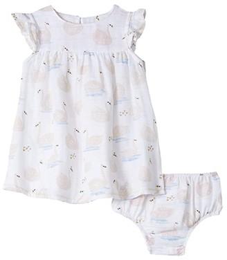 Mud Pie Muslin Swan Dress (Infant/Toddler) (Pink) Girl's Dress