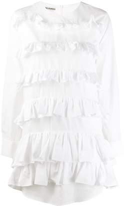 ANAÏS JOURDEN poplin ruffled mini shirt dress