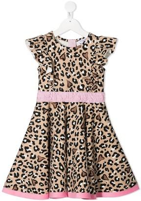 MonnaLisa Animal-Print Ruffled Dress