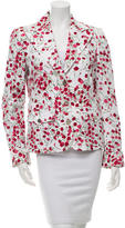 Dolce & Gabbana Notch Lapel Carnations Blazer