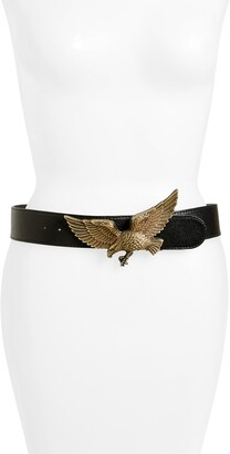 Raina Eagle Leather Belt