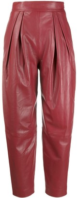Alberta Ferretti High-Waisted Tapered Trousers