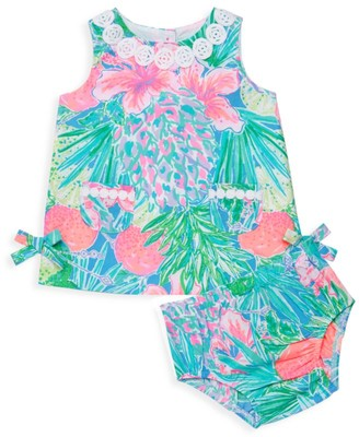Lilly Pulitzer Baby Girl's 2-Piece Mila Floral Cotton Dress & Bloomers Set