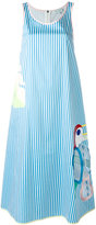Mira Mikati striped cut out dress - women - Cotton/Spandex/Elastane - 38