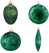 Blown Glass Ornaments 4-Piece Set