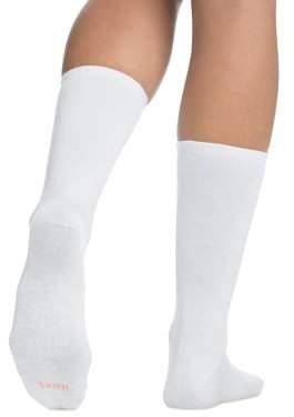Hanes Women's ComfortBlend Crew Socks Size 8-12 6-Pack