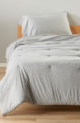 BP Solid Cotton Jersey Comforter & Sheet Set