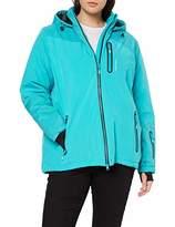 Ulla Popken womens Skijacke Carbon Optik Parka Jacket,20 (Manufacturer Size: 46)