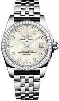 Breitling Galactic 36 ladies' mother of pearl bracelet watch