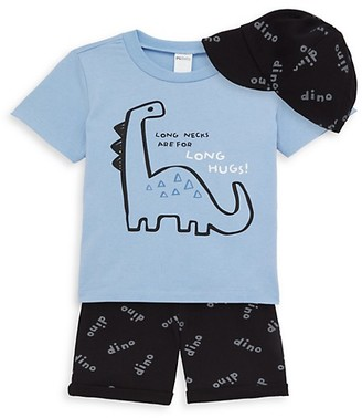 Pl Baby Baby Boy's 3-Piece Baseball Cap, T-Shirt Bermuda Shorts Set