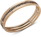 Dkny Two-Tone Crystal Triple-Row Bangle Bracelet