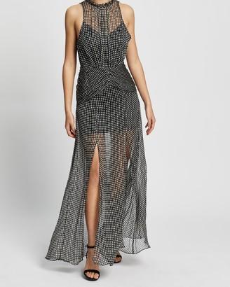 Shona Joy Natalia Split Skirt Midi Dress