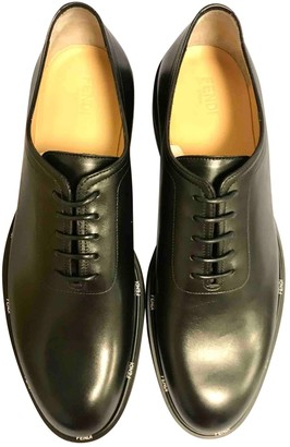 Fendi Black Leather Lace ups