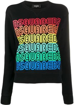 DSQUARED2 Repeated Logo Sweatshirt