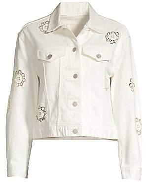 Rebecca Taylor Women's Eyelet Denim Jacket