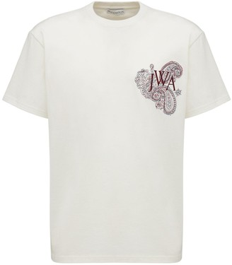 J.W.Anderson Embroidered Logo Cotton T-Shirt