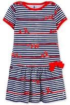 Petit Bateau Girls whimsical striped dress