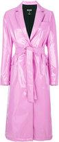 MSGM belted trench coat - women - Polyamide/Polyester/Polyurethane/Spandex/Elastane - 40
