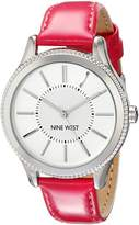 Nine West Women's NW/1703SVPK -Tone Watch with Pink Strap