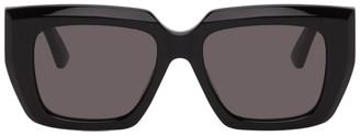 Bottega Veneta Black Angular Sunglasses