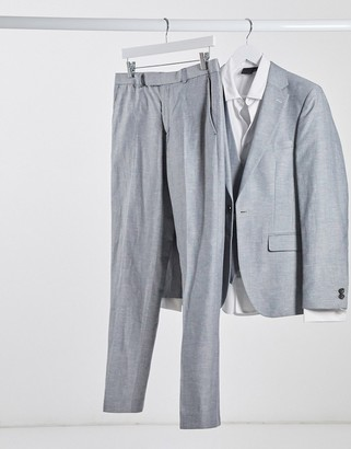 Rudie linen slim fit suit pants