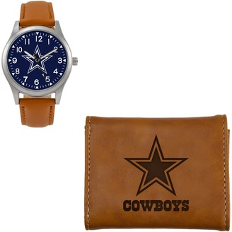 Sparo NFL Brown Watch and Wallet Gift Set