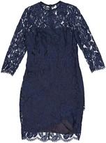 Lover Navy Cotton Dress for Women
