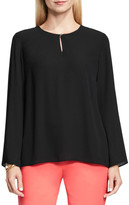 Vince Camuto Bell Sleeve Keyhole Blouse (Petite)