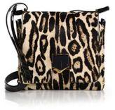 Jimmy Choo Lockett Small Leopard-Print Calf Hair Crossbody Bag