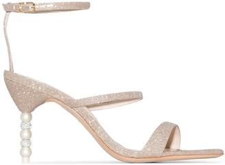 Sophia Webster Rosalind glitter-effect embellished heel sandals