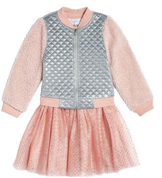Pippa & Julie Quilted Bomber Jacket & Dress Set