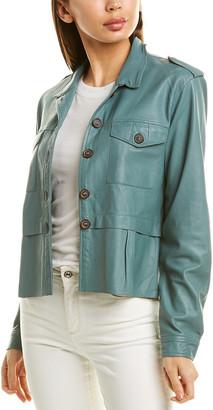 Jakett Aubry Burnished Leather Jacket