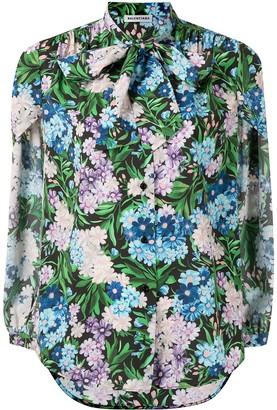 Balenciaga Pre-Owned Floral-Print Detachable Sleeves Shirt
