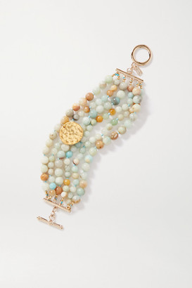 Kenneth Jay Lane Gold-plated Beaded Bracelet - Mint