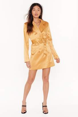 Nasty Gal Womens Powers That Be Blazer Dress - yellow - 8