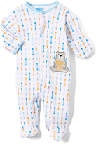 Bon Bebe White & Blue 'Born to be Wild' Bear Footie - Infant