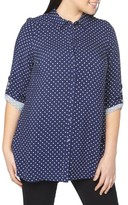 Evans Plus Size Women's Polka Dot Shirt