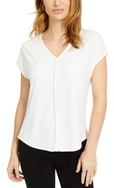 Bar III V-Neck Seamed T-Shirt, Created for Macy's