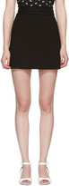 Miu Miu Black Crepe Miniskirt