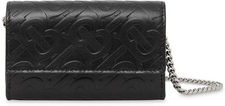 Burberry Small Monogram Wallet With Detachable Strap