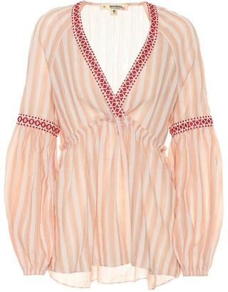 Lemlem Nefasi striped cotton-blend blouse