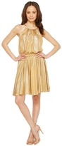 Halston Sleeveless Round Neck Dress w/ Flounce Skirt Women's Dress