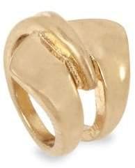 Robert Lee Morris Goldtone Sculptural Layered Ring