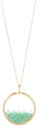Aurelie Bidermann Fine Jewellery Fine Jewellery - Chivor Large Emerald & 18kt Gold Necklace - Womens - Yellow Gold