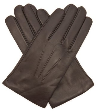Dents Bath Cashmere-lined Leather Gloves - Brown