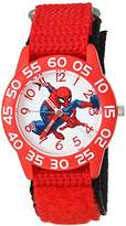 Marvel Boy's 'Spider-Man' Quartz Plastic and Nylon Casual Watch, Color:Red (Model: WMA000188)
