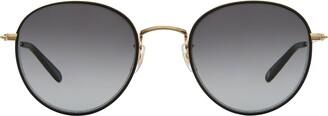 Garrett Leight Paloma Sun Matte Black-gold Sunglasses