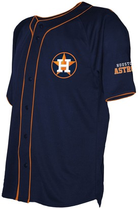 Stitches Men's Navy Houston Astros Team Color Full-Button Jersey