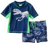 Carter's Baby Boy Dinosaur Rash Guard & Swim Trunks Set
